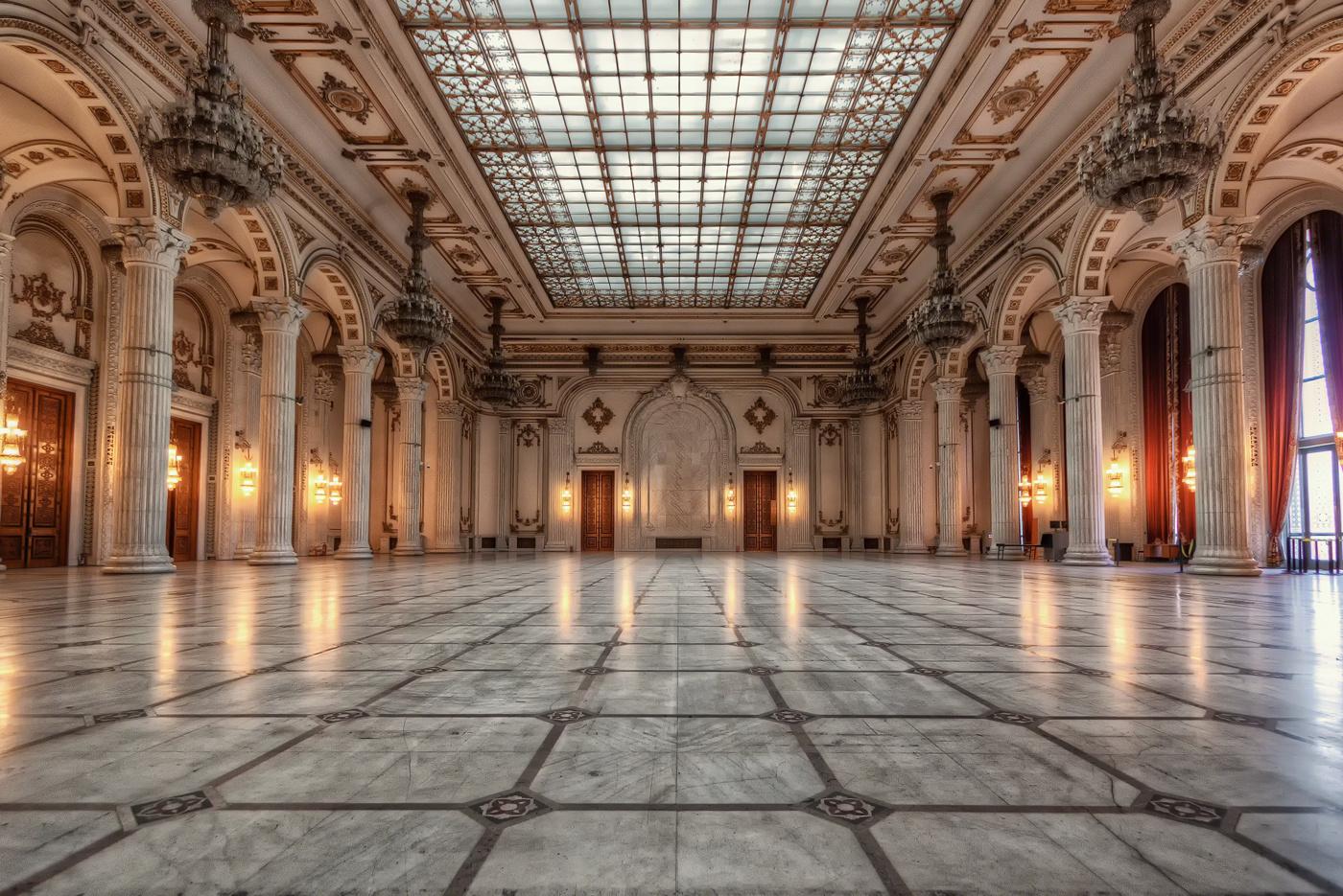 Bucharest's Palace of the Parliament - Ballroom | Romania by Nico Trinkhaus