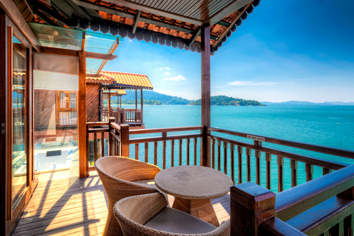 Chalet on water in Langkawi Island Resort, Malaysia by Nico Trinkhaus