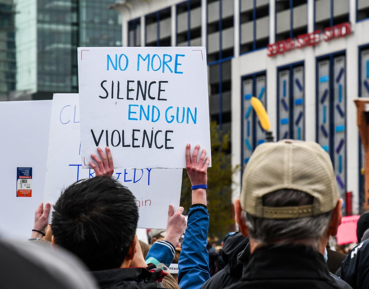 No More Silence End Gun Violence by Katherine Kosmicki