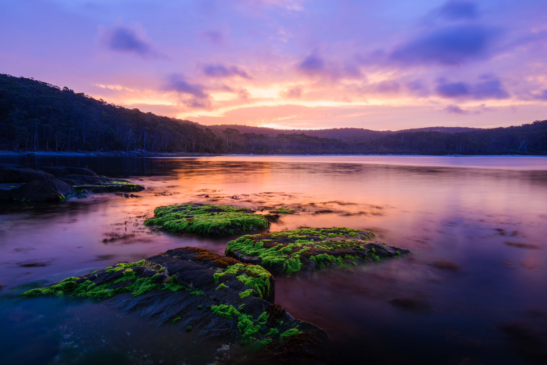 Sunset at Fortescue Bay, Tasmania by Navin Chandra