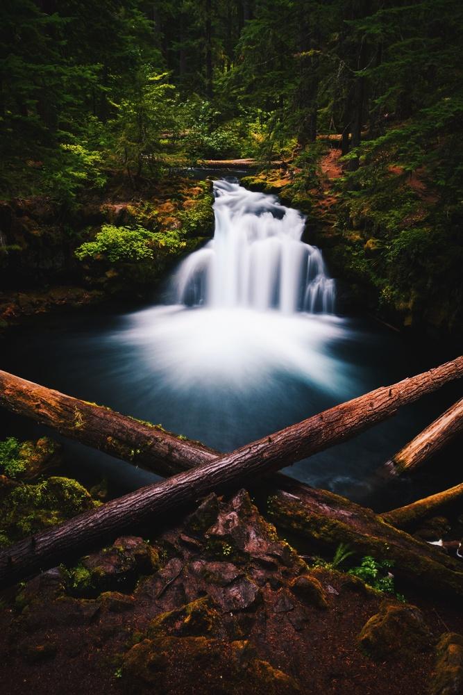 White Horse Falls, Oregon by Lee Hanyo