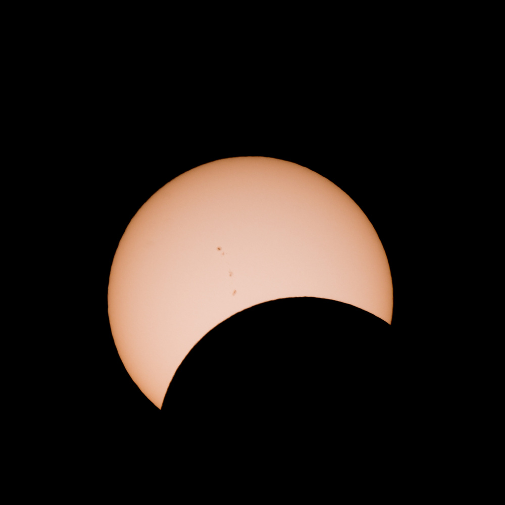 Solar Eclipse and Sunspots by dean wilson