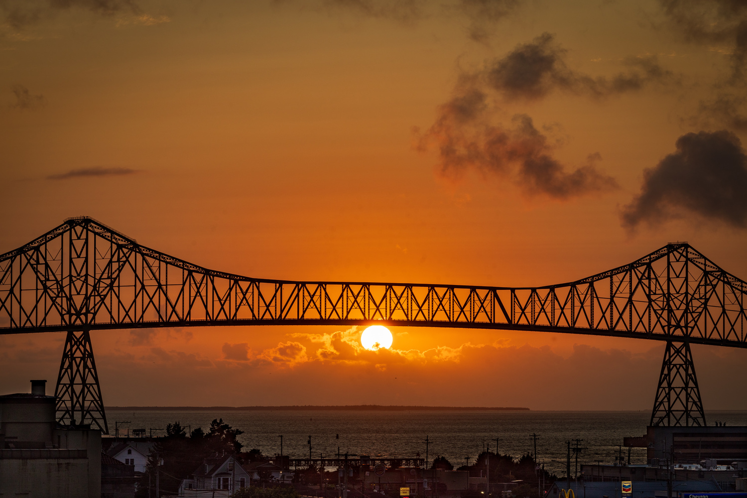 Sunset on the Bridge to Nowhere by dean wilson