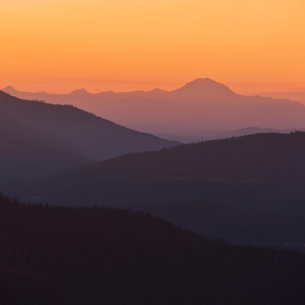 Lassen Fire Sunset by David Medeiros