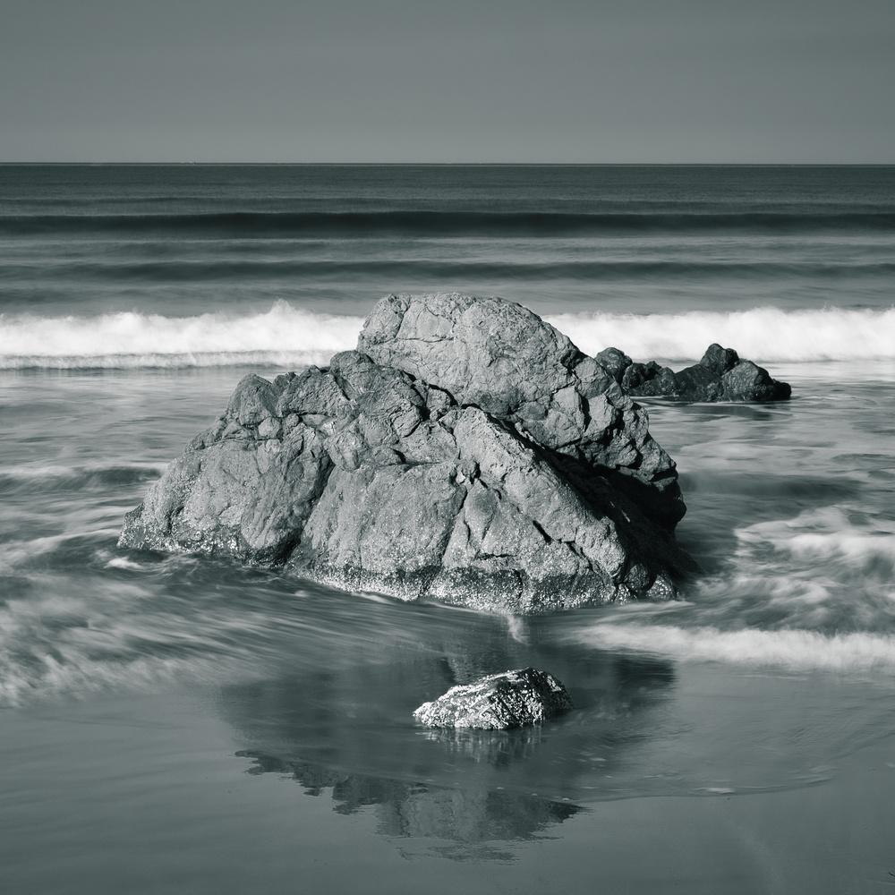 Rock Reflection - Dillon Beach by David Medeiros