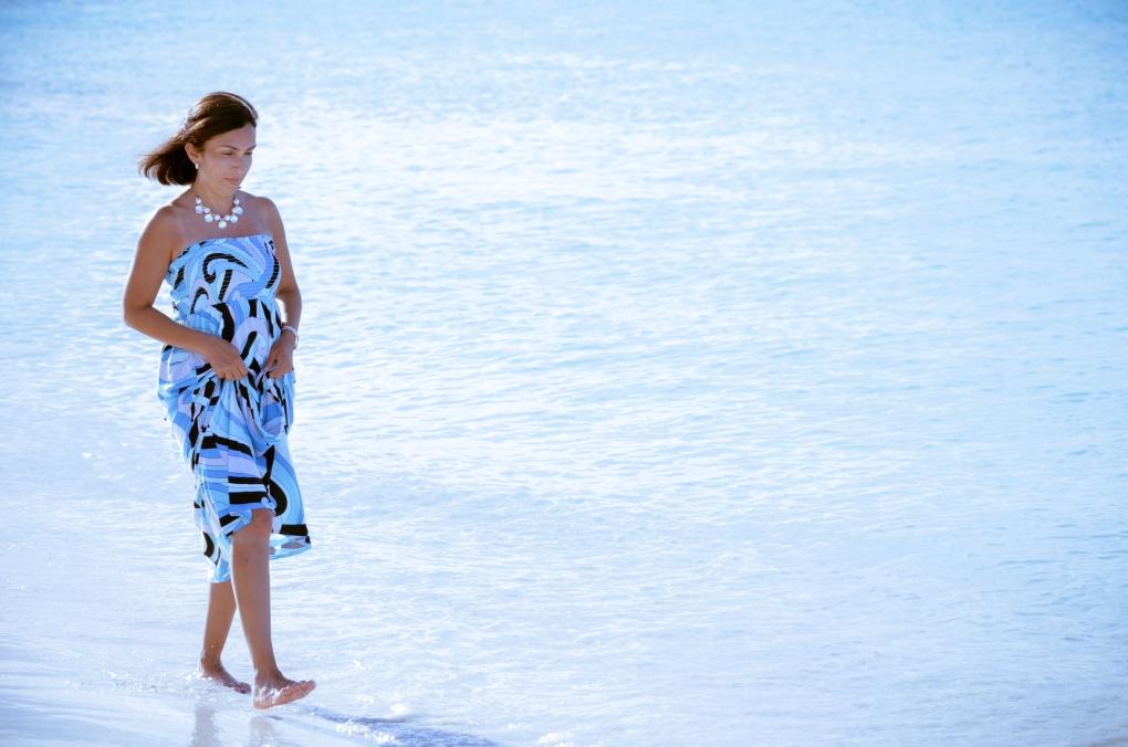 Walking at the beach in Cancun by Antonio Juarez