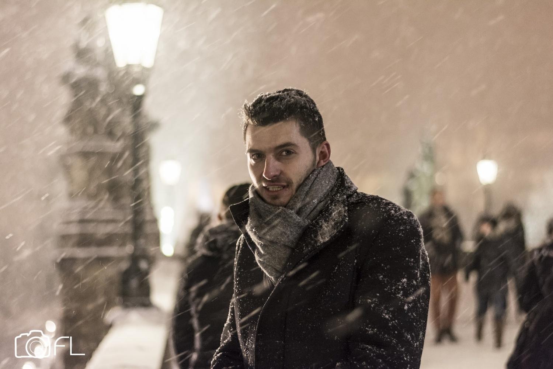 Winter Portrait by Fritz Lanbin