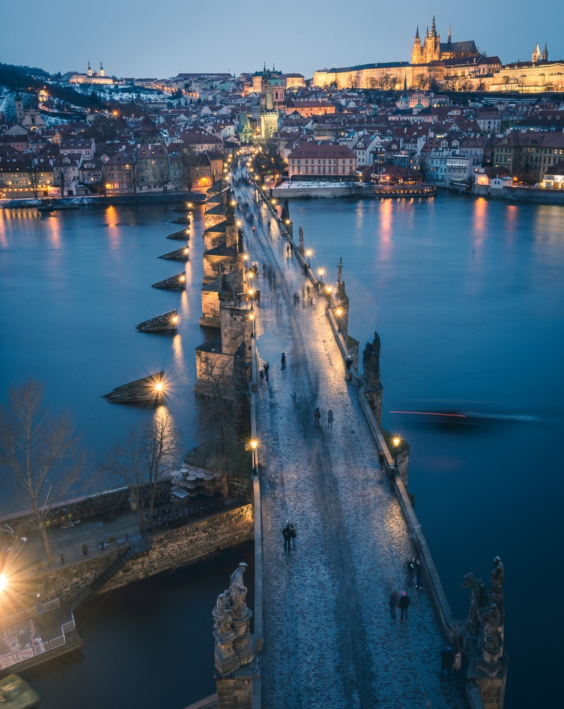 Blue Hour Prague by Fritz Lanbin
