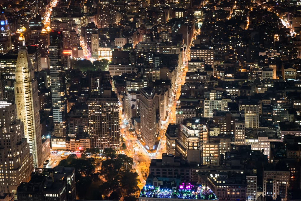 The Flat Iron at Night by Timothy Gonzalez