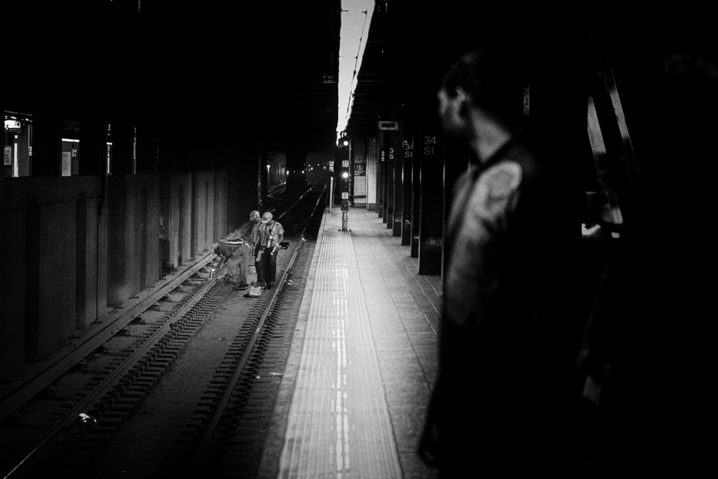 New York City Subway Workers by Timothy Gonzalez