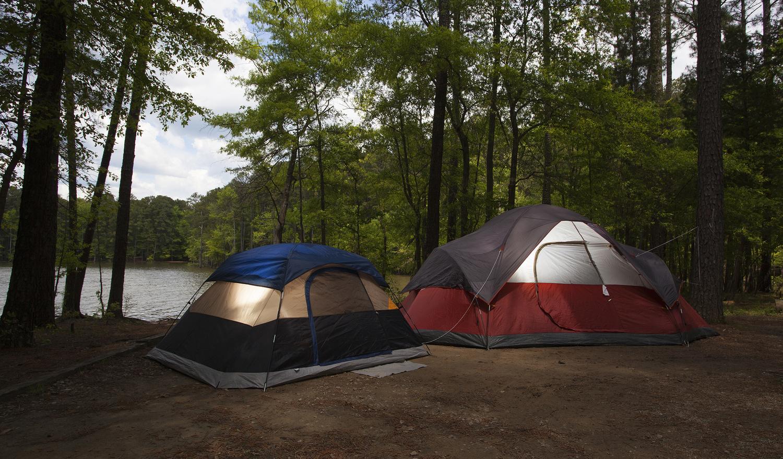 Camping at Jordan Lake in North Carolina by Guy J. Sagi