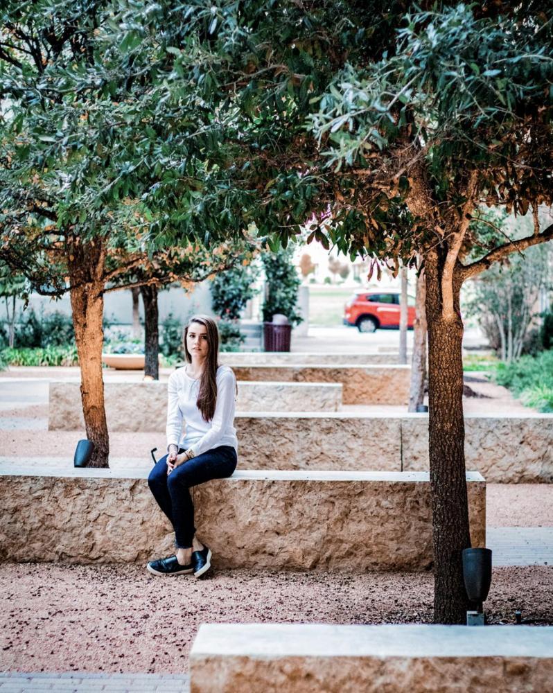 Girl on Stone by Matt Goudreau