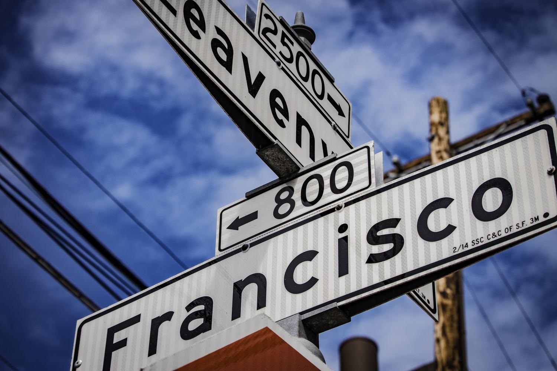 San Francisco Street Sign by Matt Goudreau