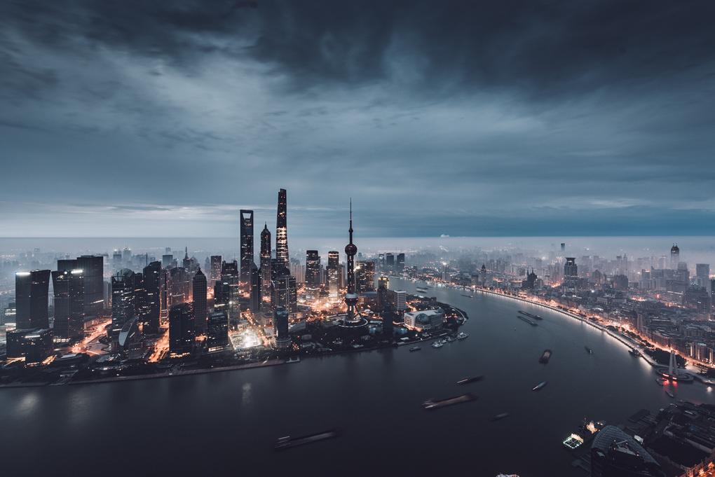 Shanghai at Dawn by Max Leitner