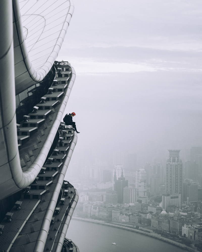 Up above Shanghai! by Max Leitner