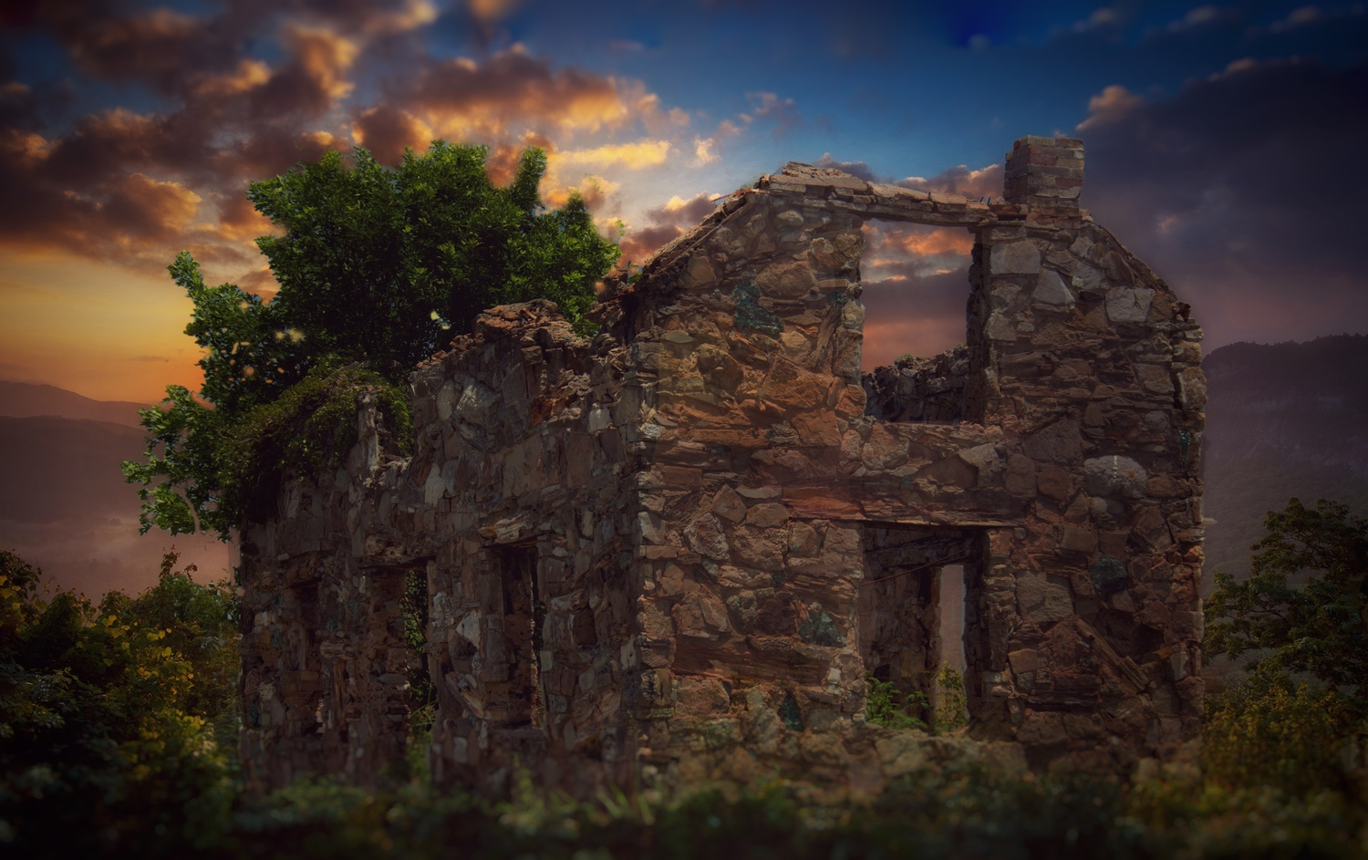 Abandoned by sunset by Bobby Wood