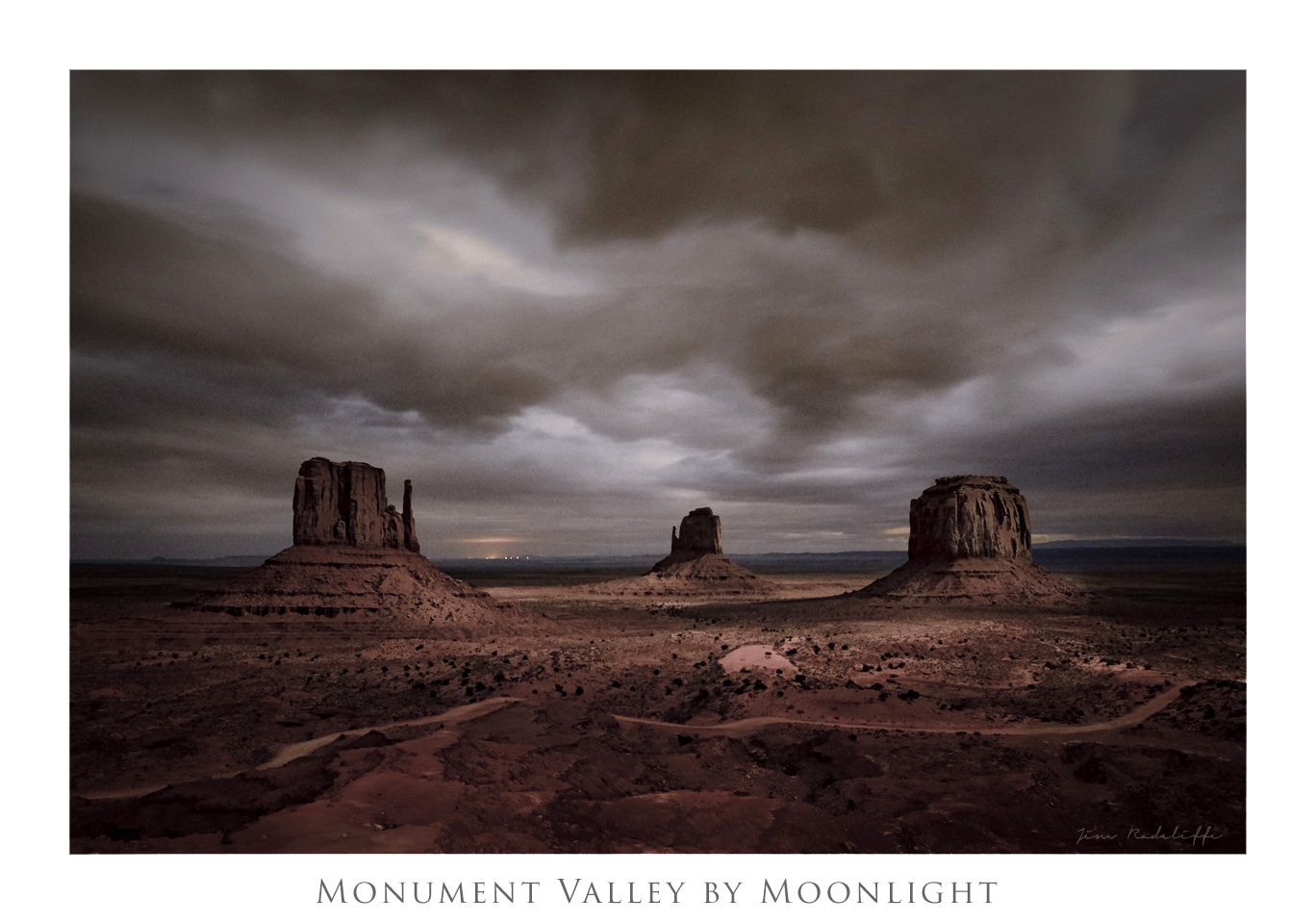 Monument Valley by Moonlight by Jim Radcliffe