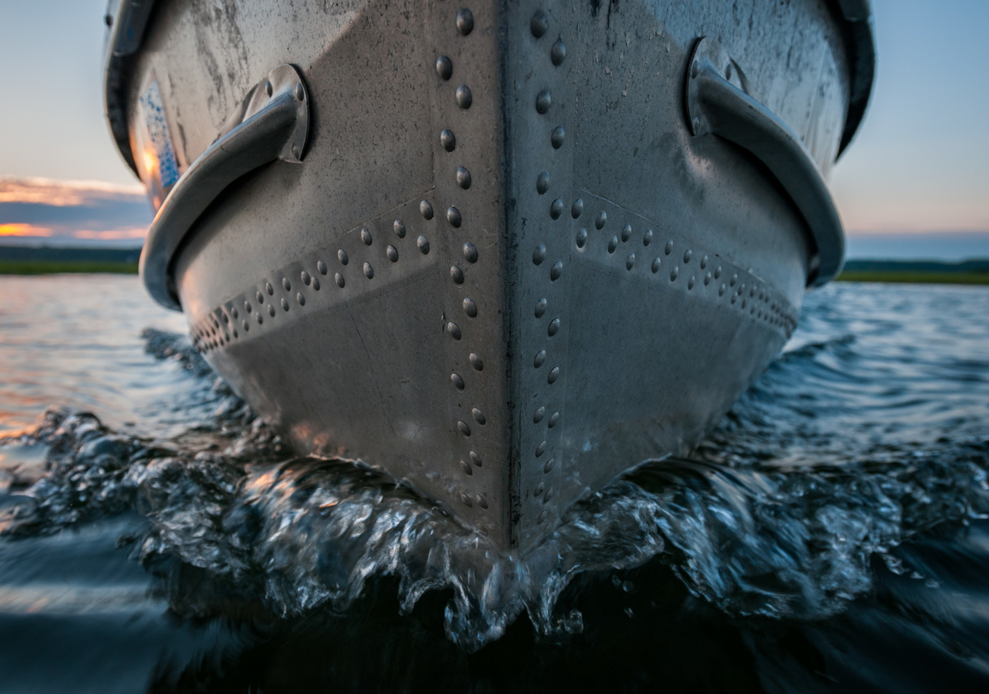 Bow Through Water by A B