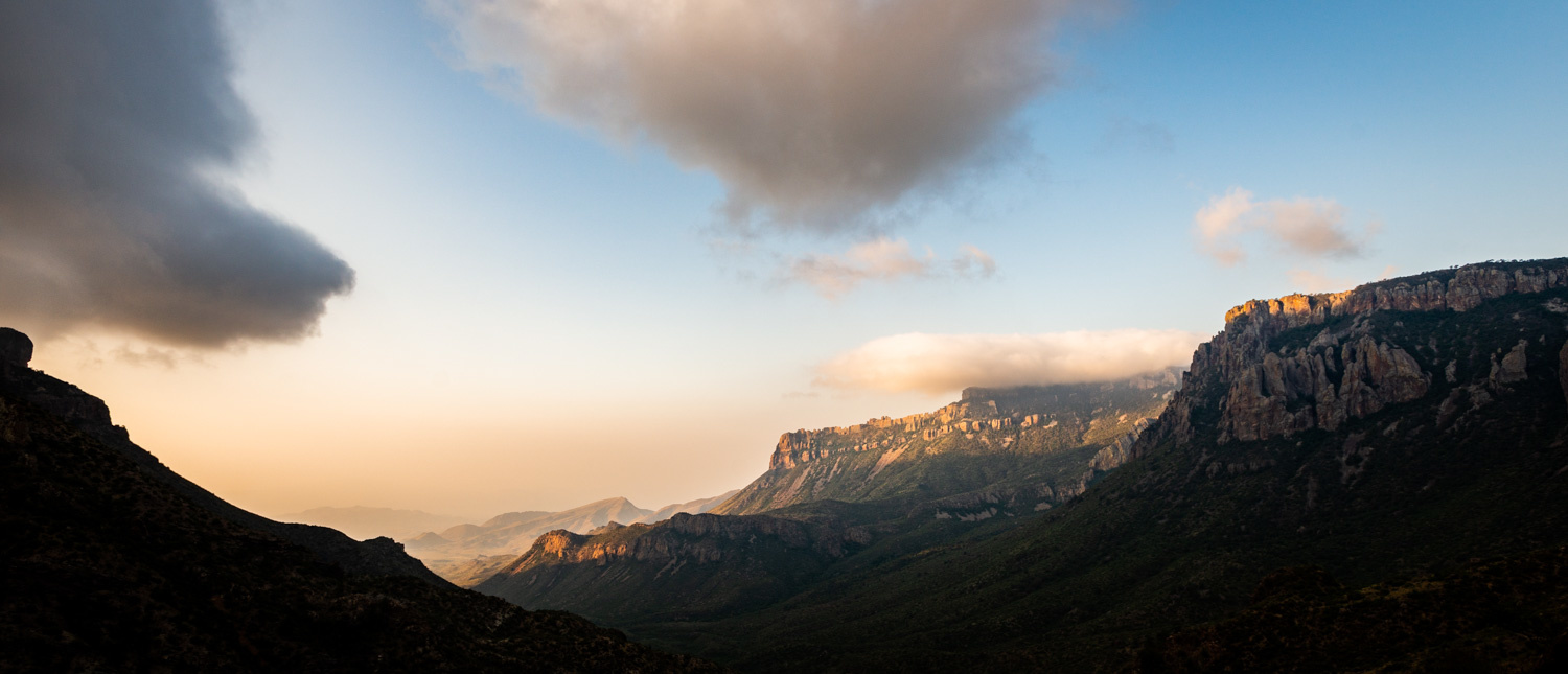 Chisos Mountains Halfway by A B