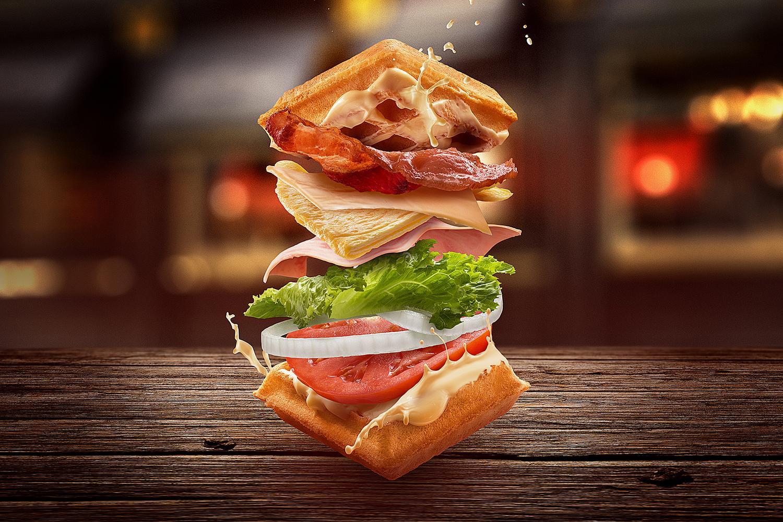 Waffle Sandwich by Mario Olvera