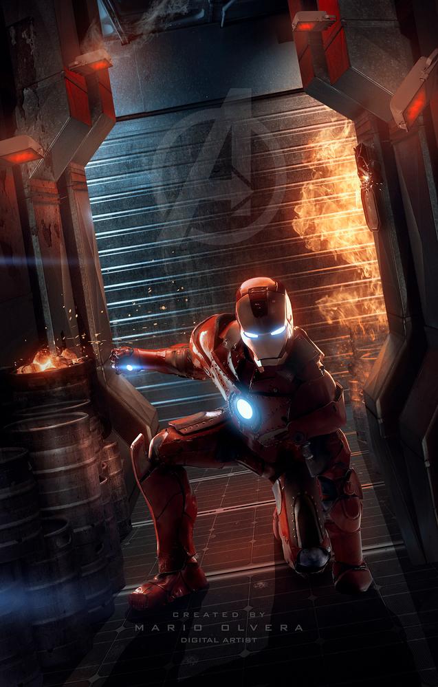 Avengers IRONMAN fan art by Mario Olvera