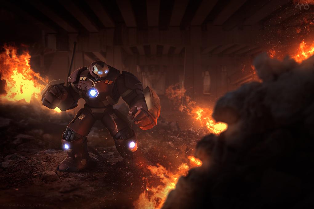 IRONMAN Hulkbuster by Mario Olvera