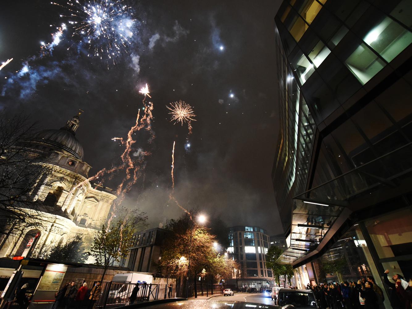Armistice Fireworks over St. Paul's by Eric Mathiasen