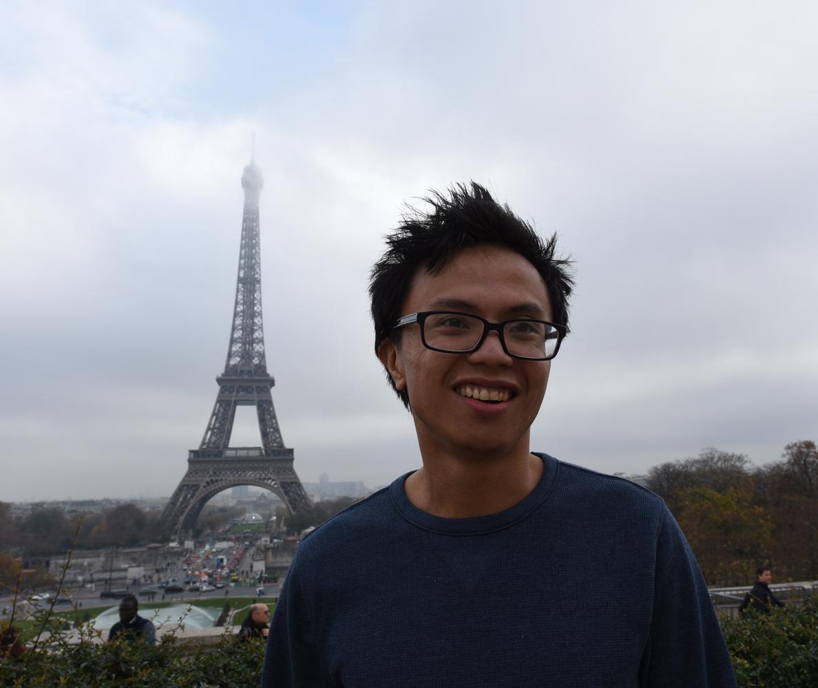 Eiffel Tower Portrait by Eric Mathiasen