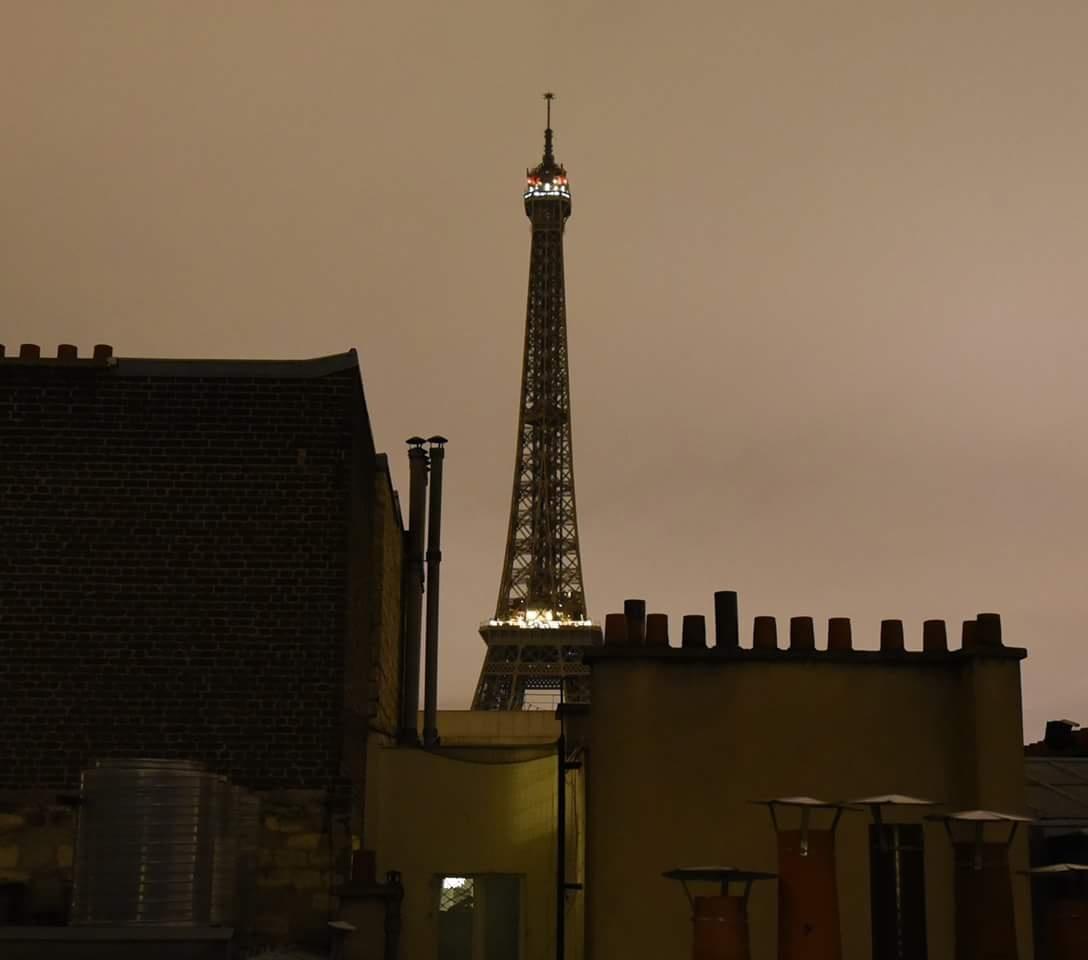 Darkened Eiffel by Eric Mathiasen