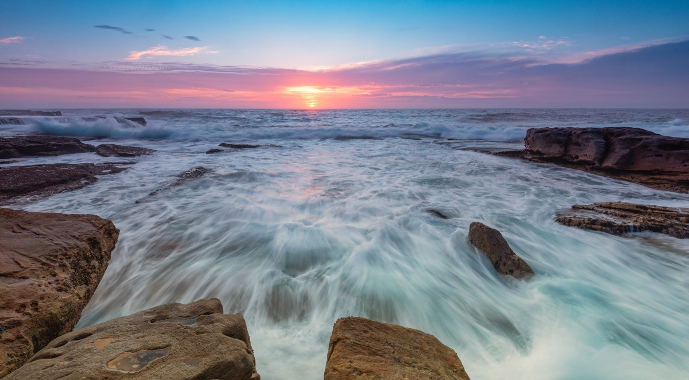 Pastel Sunrise At Maroubra by Shane Smith