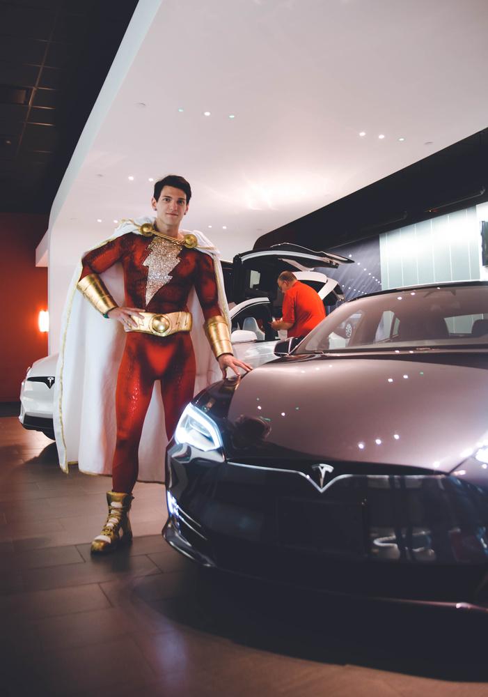 Shazam + Tesla by Christina Grande