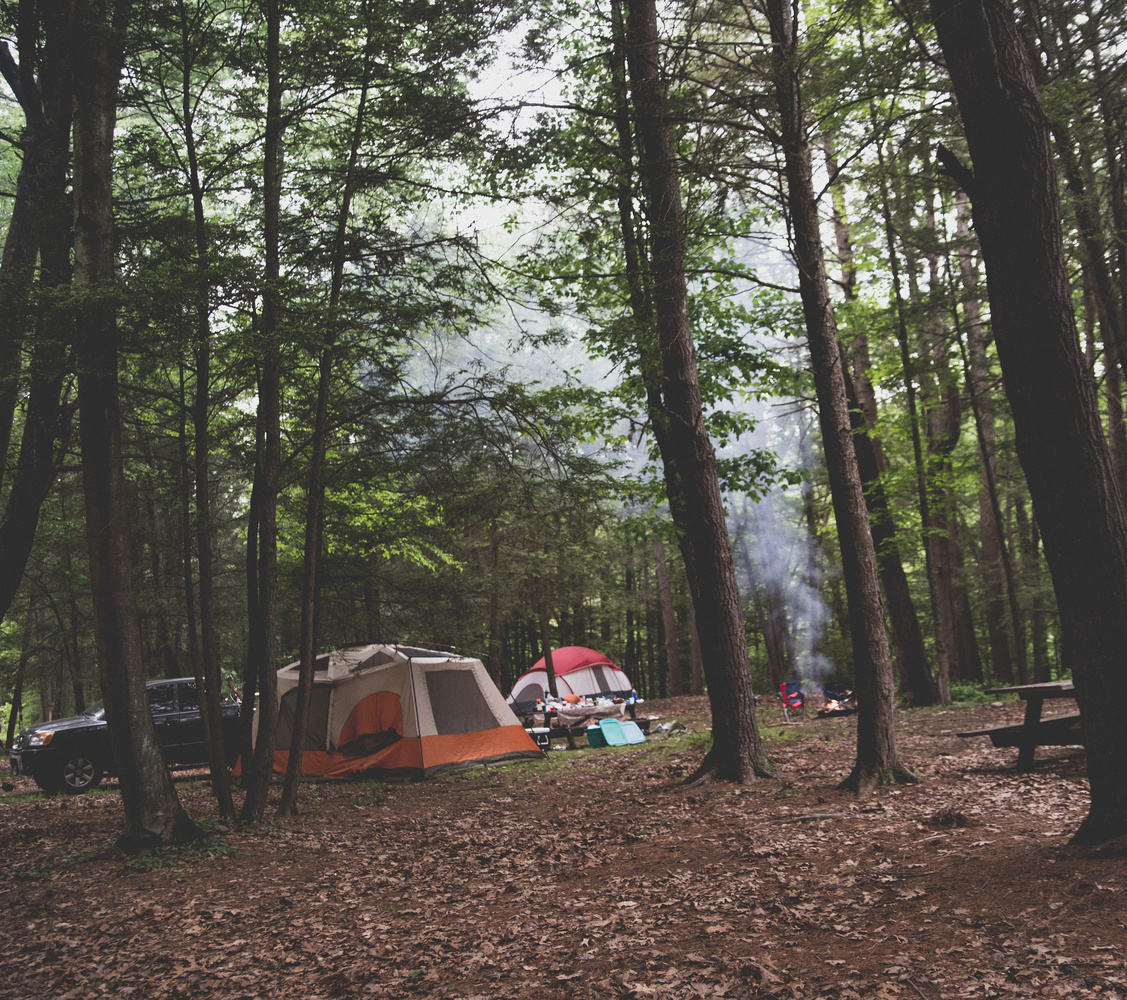 Camping in Connecticut  by Christina Grande