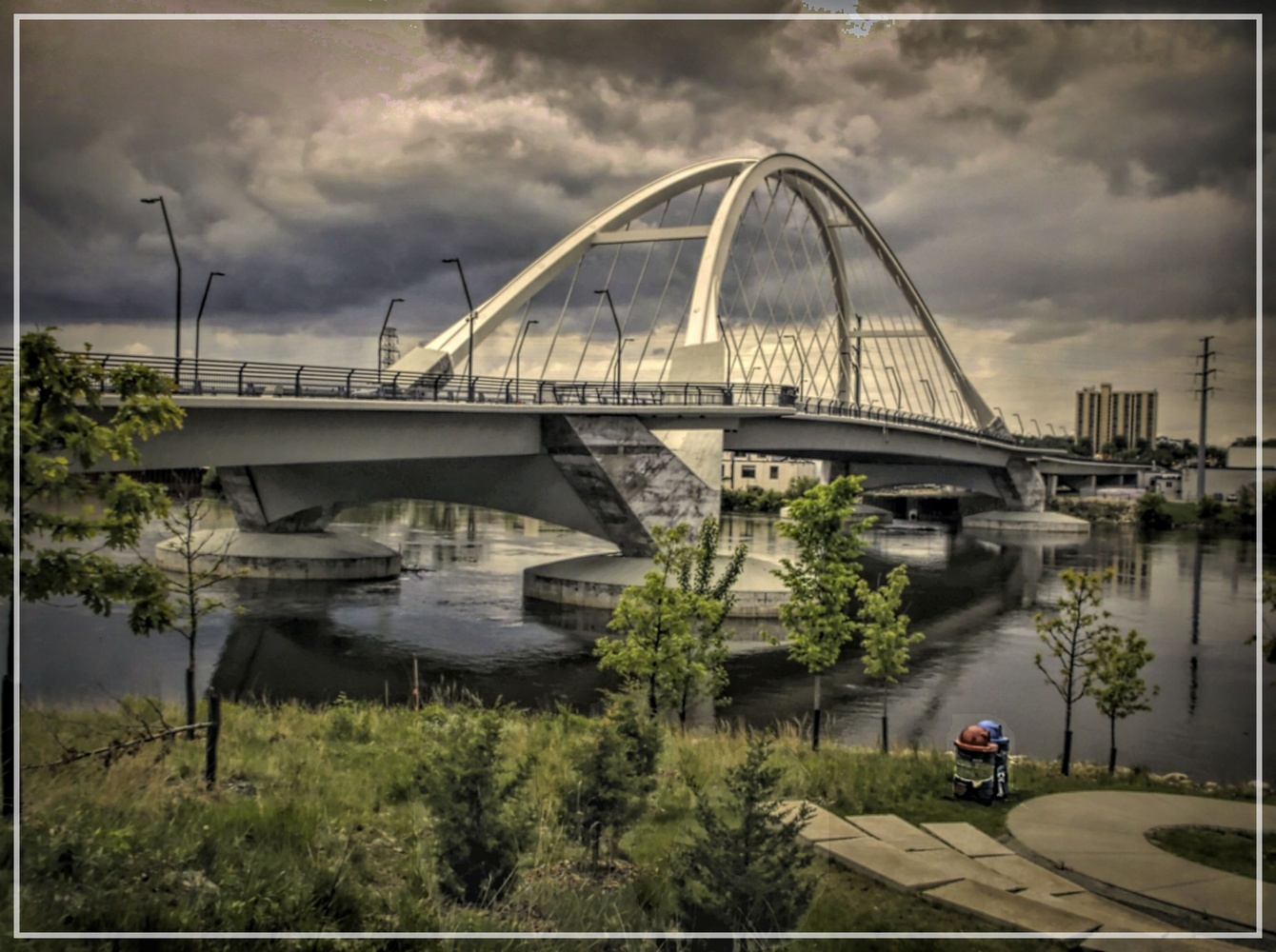 Storm Clouds Over Lowery St. Bridge by JAMES FLACK