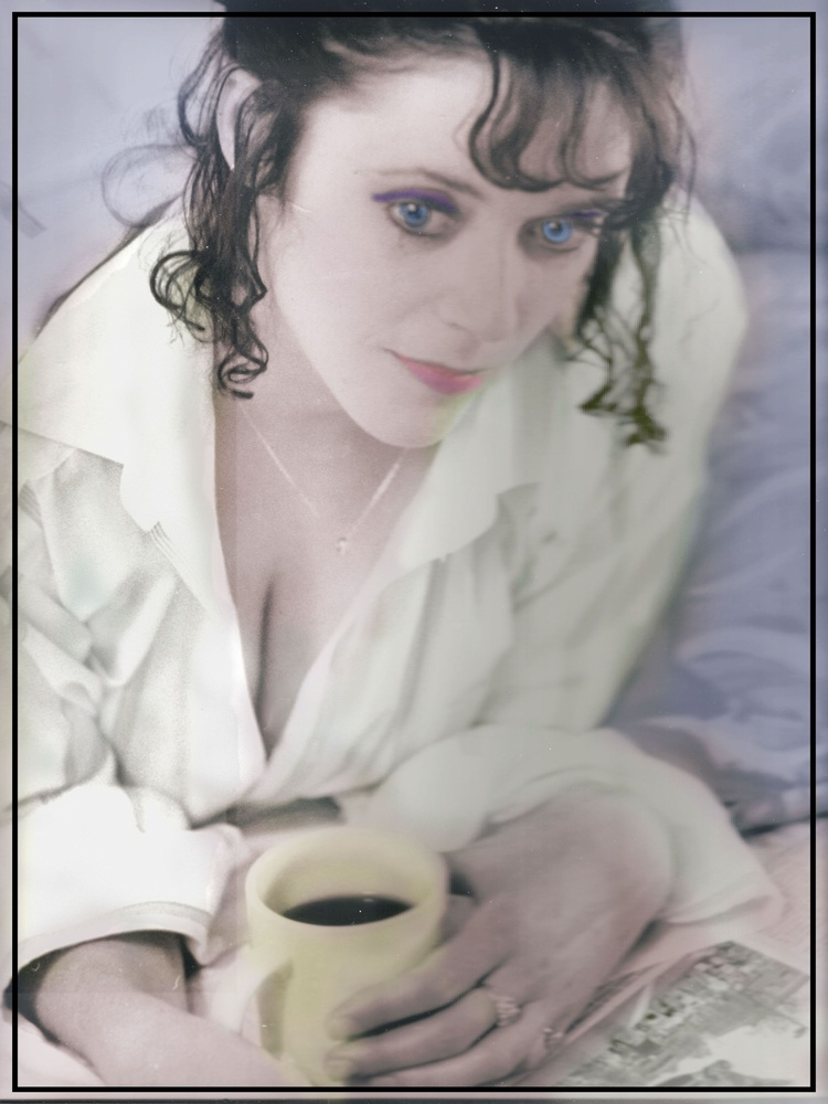 Stacy B&W Hand Colorized by JAMES FLACK