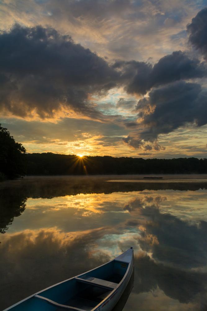 Reflection on Lake Clara by Erik Pedersen