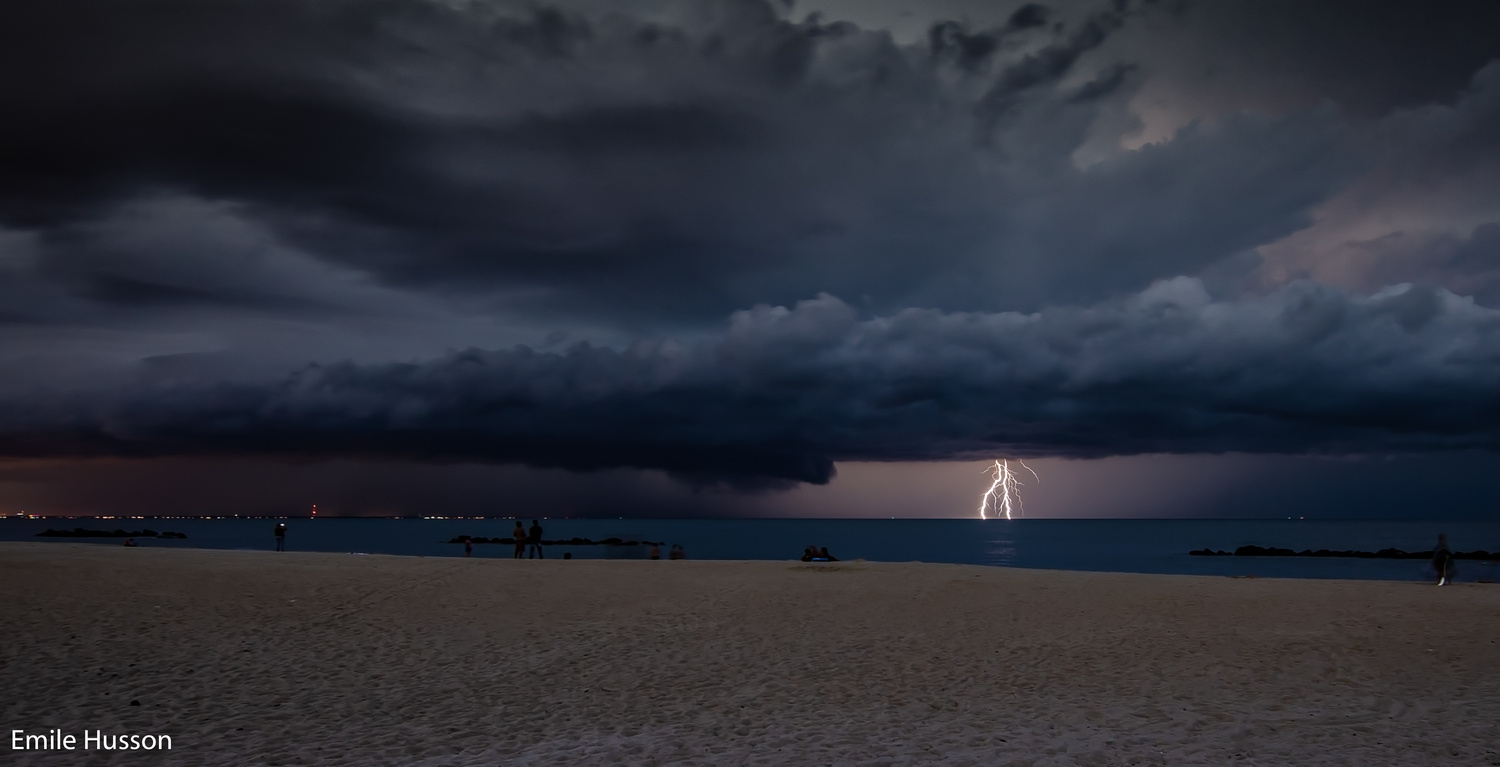 East Beach Storm by Emile Husson