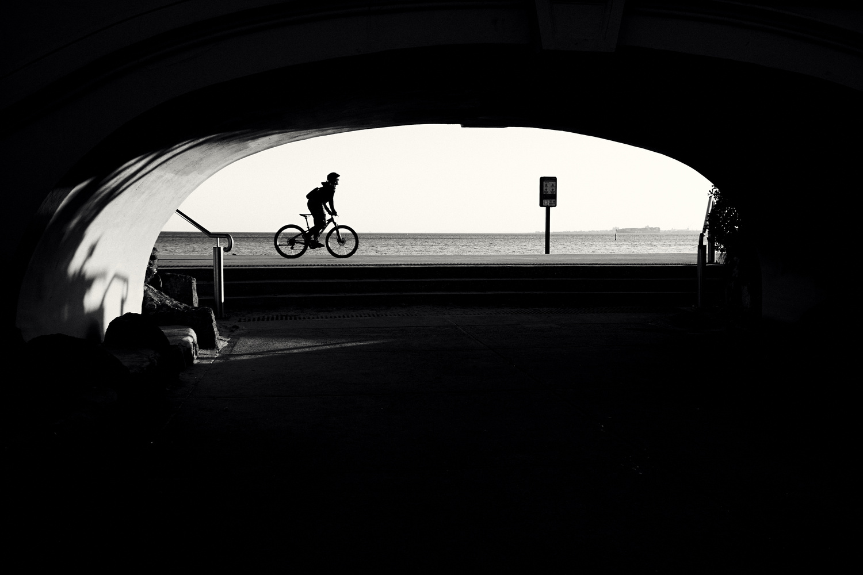 St Kilda cyclist by Rebecca Francis