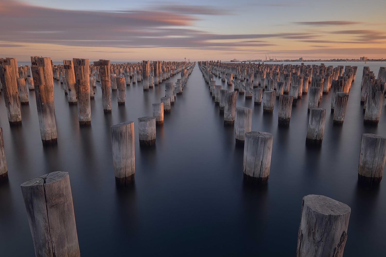 Port Melbourne Pier sunset by Rebecca Francis
