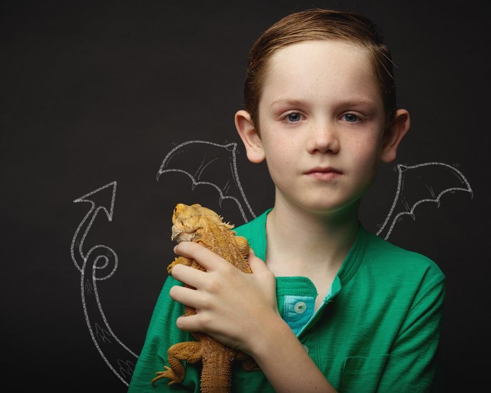 Eli and his pet dragon by Bert McLendon