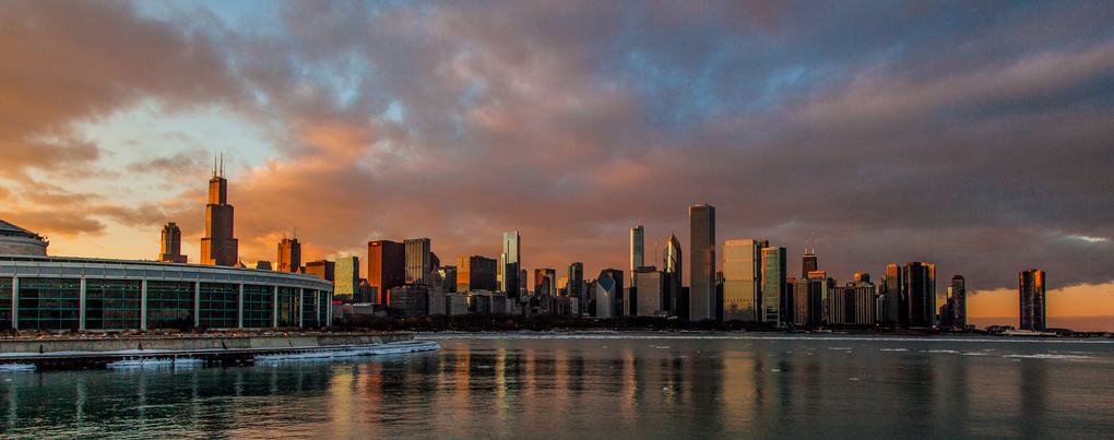 Chicago sunset by Paul Stonehouse