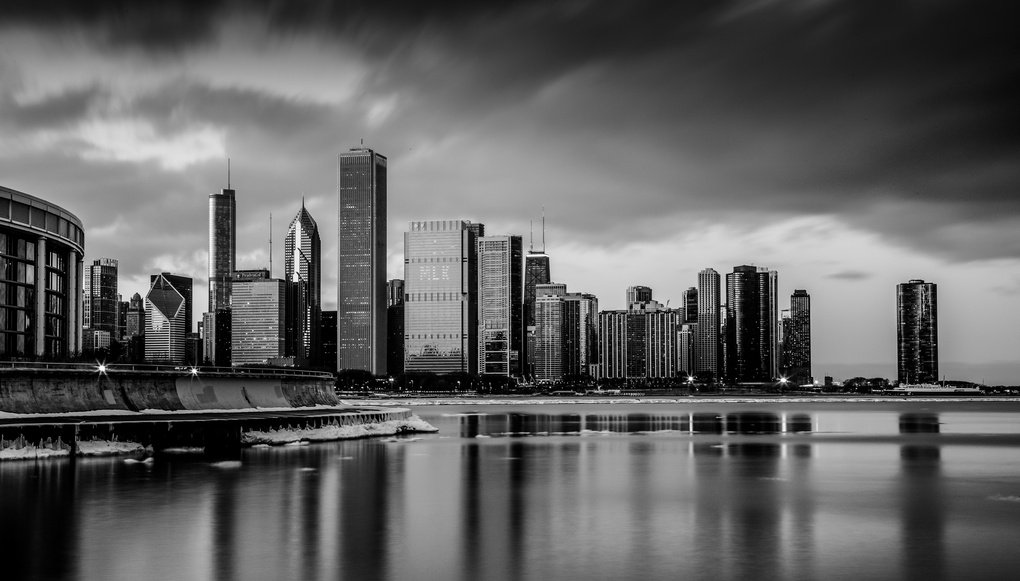 Black and White of City  by Paul Stonehouse