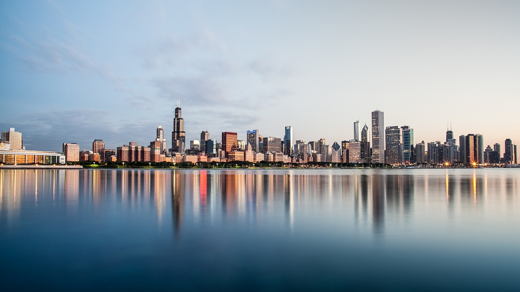 Chicago Skyline at Dawn by Paul Stonehouse