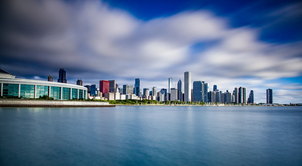 Chicago Lake front Long exposure by Paul Stonehouse