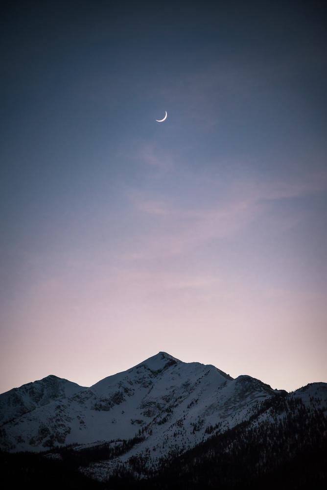 Moonrise Over the Rockies by Trevor Parker