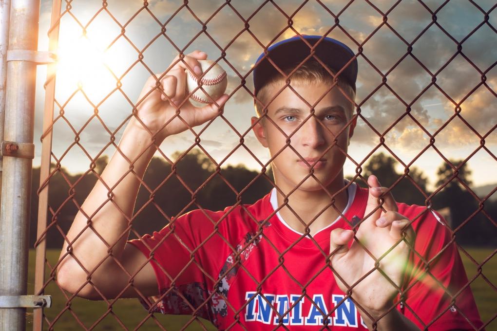 Baseball Portrait by Keegan Evans