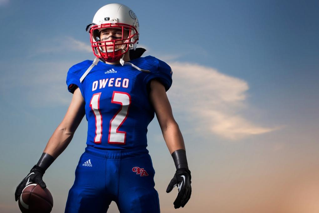 Football Senior by Keegan Evans