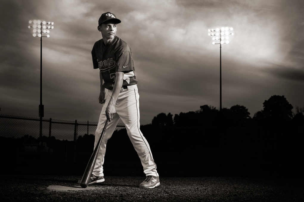 Senior At Bat by Keegan Evans