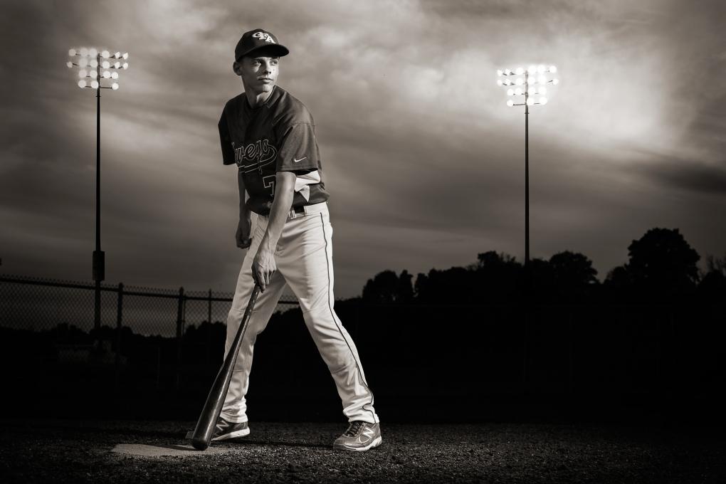 Senior At Bat by Keegan Evans