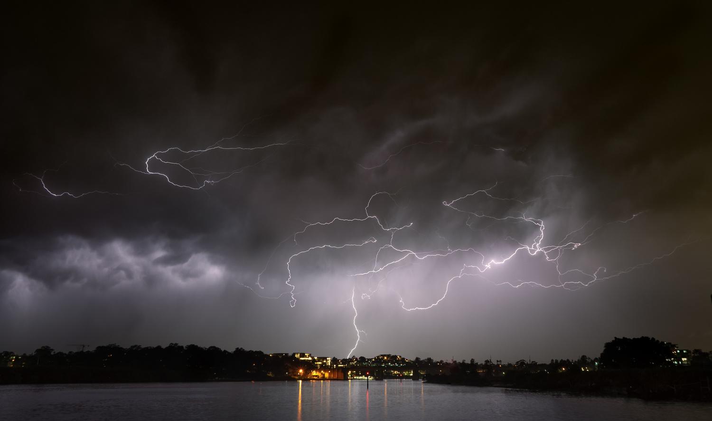 Storm over Sydney by Mike Furkalowski