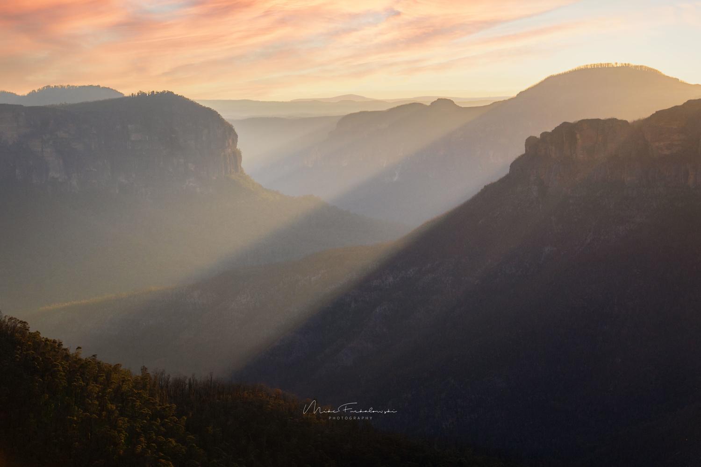 Blue Mountains Sunrise by Mike Furkalowski